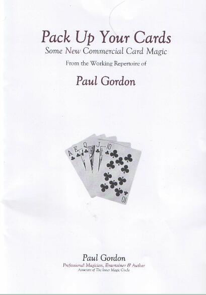 Pack Up Your Cards Vol 1 by Paul Gordon
