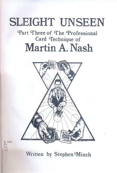 Sleight Unseen by Martin A. Nash