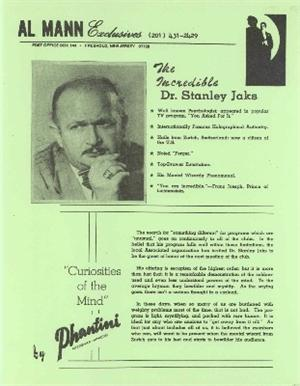 The Incredible Dr Stanley Jaks by Al Mann