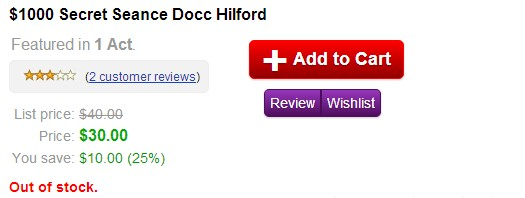 The $1000 Secret Sceance by Docc Hilford