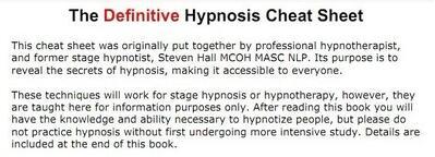Underground Hypnosis Workbooks by Taylor Starr