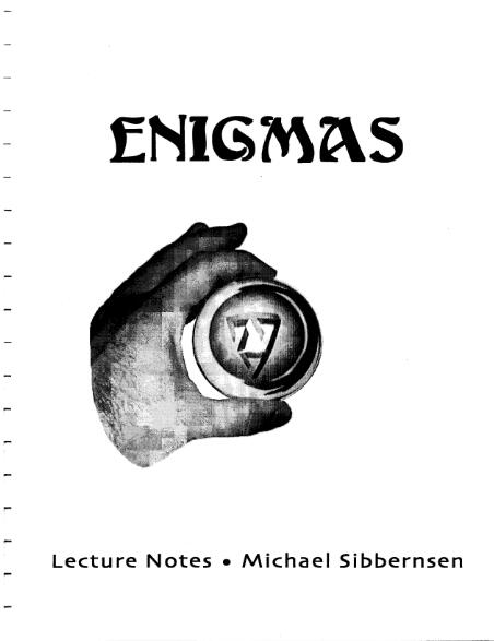 Enigmas by Michael Sibbernsen