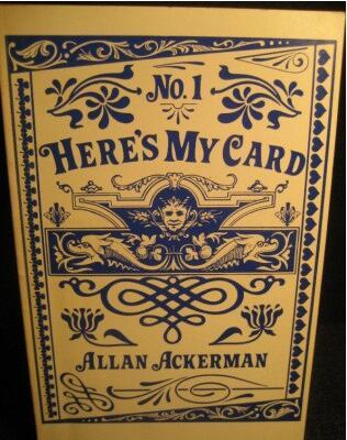 Here's My Card by Allan Ackerman