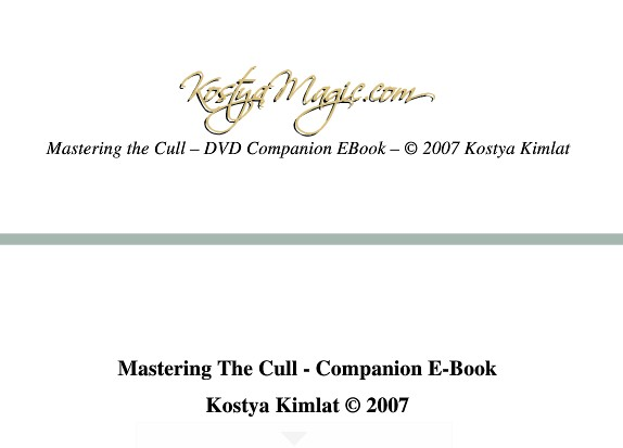 Mastering the Cull by Kostya Kimlat