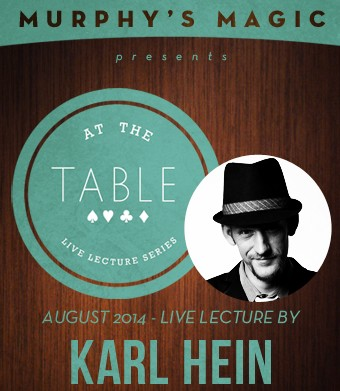 At the Table Live Lecture by Karl Hein