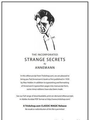 Strange Secrets by Annemann