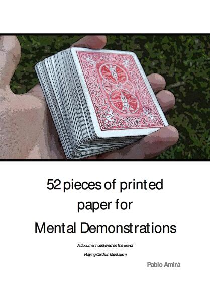 52 Pieces of Printed Paper for Mental Demonstrations by Pablo Amira