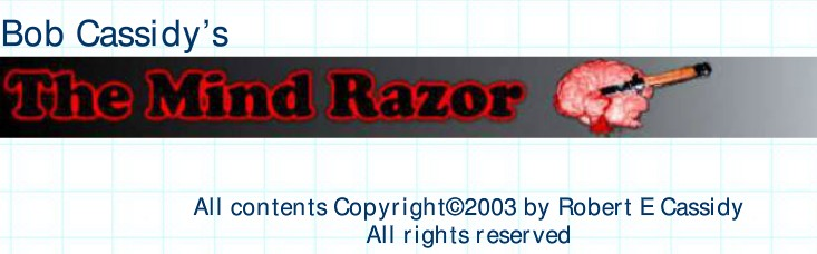 The Mind Razor by Bob Cassidy