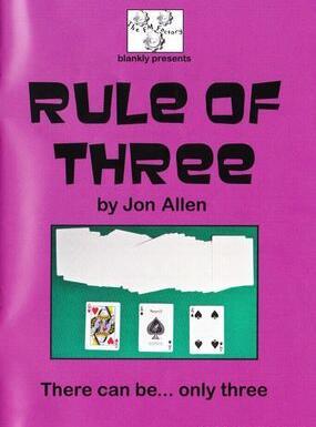 Rule of Three by Jon Allen