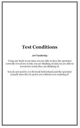 Test Conditions by Art Vanderlay