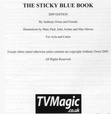 The Sticky Blue Book by Anthony Owen