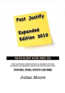 Post Justify(Post-It Note Mentalism) by Julien Moore