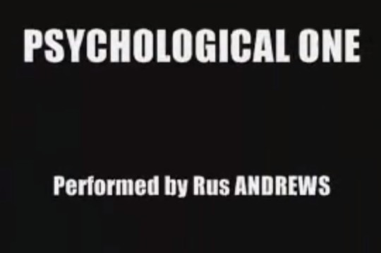 Psychological One by Rus Andrews