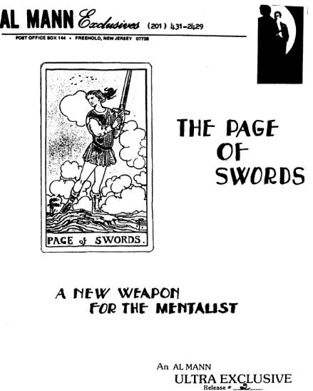 Page Of Swords by Al Mann