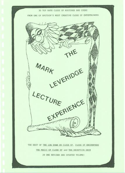 Lecture Notes by Mark Leveridge