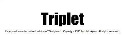 Triplet by Mick Ayres