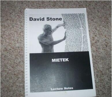 Mietek Lecture Notes by David Stone