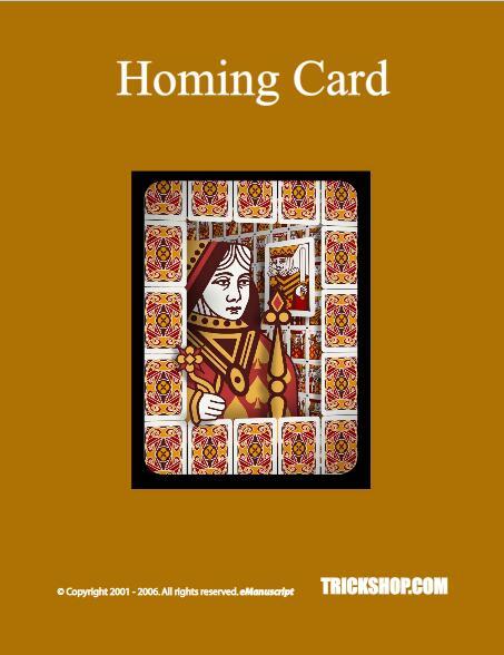 Homing Card by Trickshop
