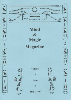 Ted Lesley Mind Magic magazine Vol 1 Issue 1 July 1997