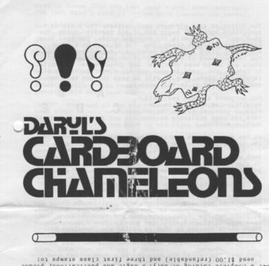 Cardboard Chameleons by Daryl