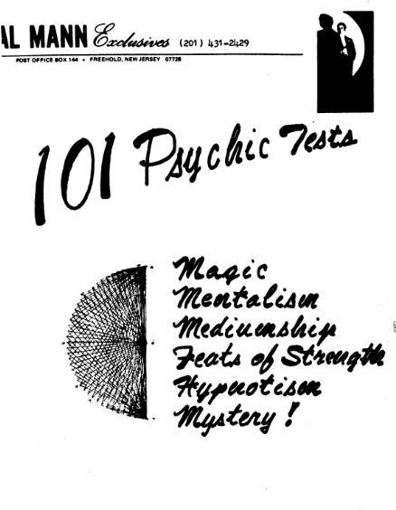 101 Psychic Tests by Al Mann