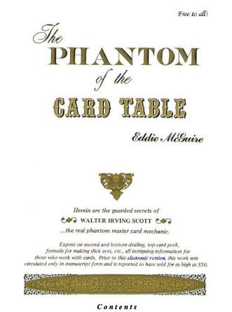 The Phantom of The Card Table by Eddie McGuire
