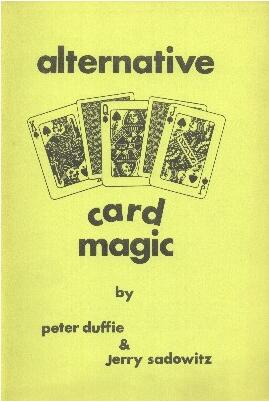 Alternative Card Magic by Jerry Sadowitz & Peter Duffie