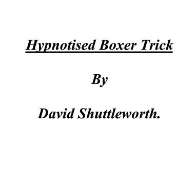 Hypnotised Boxer Trick by David Shuttleworth