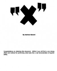 X by Andrew Gerard