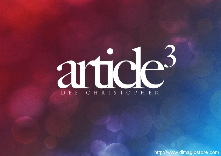 Article3 – Dee Christopher
