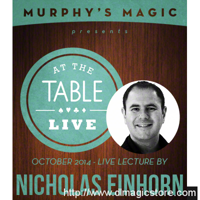 At the Table Live Lecture Nicholas Einhorn