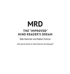 Bob Hummer and Rafael Fontao MRD THE IMPROVED MIND READER'S DREAM