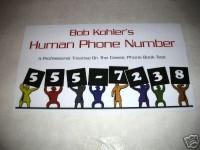 Human Phone Number by Bob Kohler