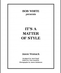 Bob White – It's a Matter of Style (Instant Download)