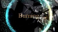 Burning Signature by Mustafa Ahmed