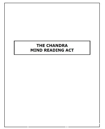 Chandra Mind Reading Act by James S. Harto