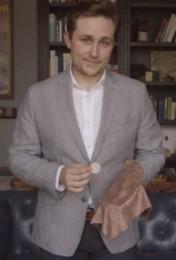 Coin Through Handkerchief by Elliott Terral