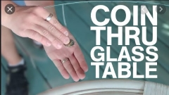 Coin Thru Glass Table By Glenn West