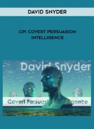 David Snyder – CPI Covert Persuasion Intelligence