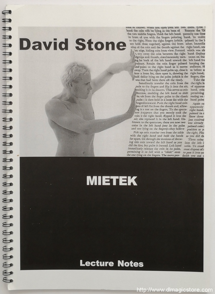 David Stone – Mietek – Lecture Notes