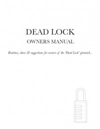 Dead Lock Owners Manual By Michael Murray