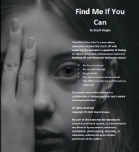Find Me If You Can (eBook) by Boyet Vargas (Instant Download)