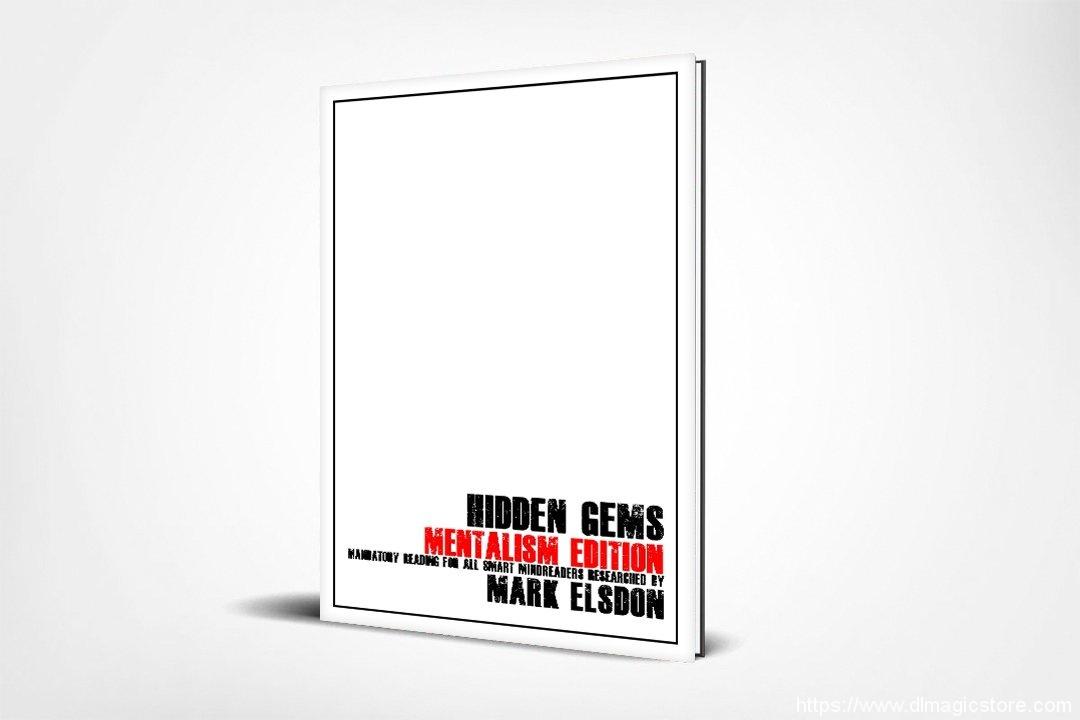 Hidden Gems Mentalism Edition by Mark Elsdon