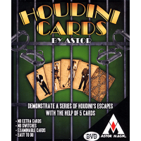 Houdini Cards by Astor Magic (Gimmick Not Included)