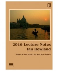Ian Rowland – 2016 Lecture Notes