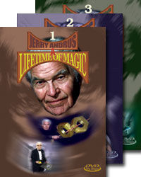 JERRY ANDRUS' A LIFETIME OF MAGIC #1-3 DVD SET Complete Version