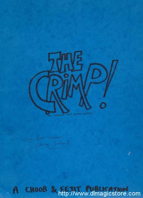 Jerry Sadowitz – The Crimp Vol 1-64 Extremely Rare
