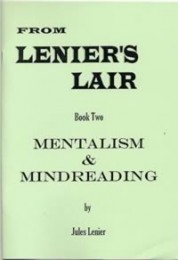 Jules Lenier – Book Two, Mentalism and Mindreading