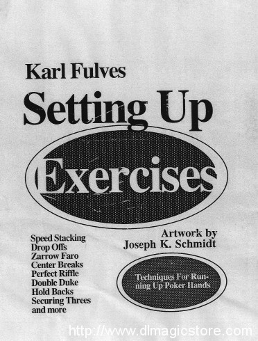 Karl Fulves – Setting Up Exercises