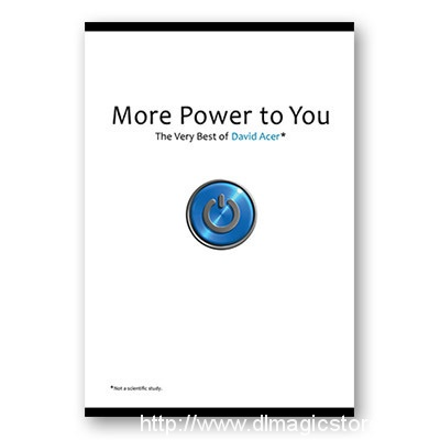 More Power to You: The Very Best of David Acer – Book